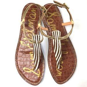 Sam Edelman Gigi zebra sandals 12